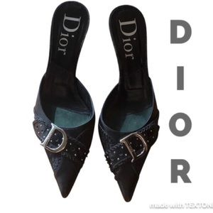 Beautiful Dior Kitten Heels Size 38.5 Gently Used